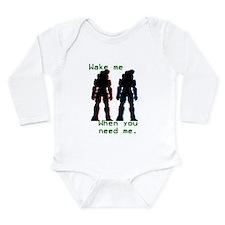wakemewhenyouneedme Long Sleeve Infant Bodysuit