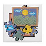 Jigsaw Puzzle Tile Coaster