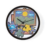 Jigsaw Puzzle Wall Clock