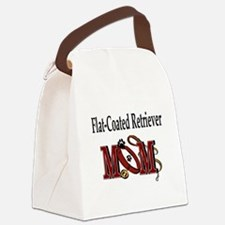 Flat-Coated Retriever Mom Canvas Lunch Bag