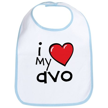 I Love My Avo Bib