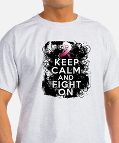 Throat Cancer Keep Calm and Fight On T-Shirt
