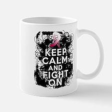 Throat Cancer Keep Calm and Fight On Mug