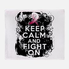 Throat Cancer Keep Calm and Fight On Stadium Blan
