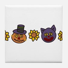Sunflowers And Heads Tile Coaster