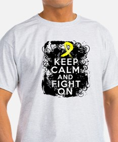 Testicular Cancer Keep Calm and Fight On T-Shirt