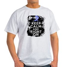Stomach Cancer Keep Calm and Fight On T-Shirt