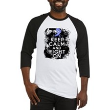 Stomach Cancer Keep Calm and Fight On Baseball Jer