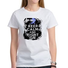 Stomach Cancer Keep Calm and Fight On Tee
