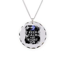 Stomach Cancer Keep Calm and Fight On Necklace