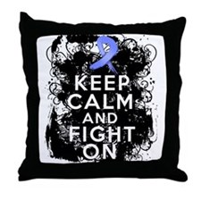 Stomach Cancer Keep Calm and Fight On Throw Pillow