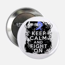"""Stomach Cancer Keep Calm and Fight On 2.25"""" Button"""