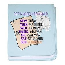 OYOOS Cat Weekly design baby blanket