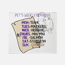 OYOOS Cat Weekly design Throw Blanket