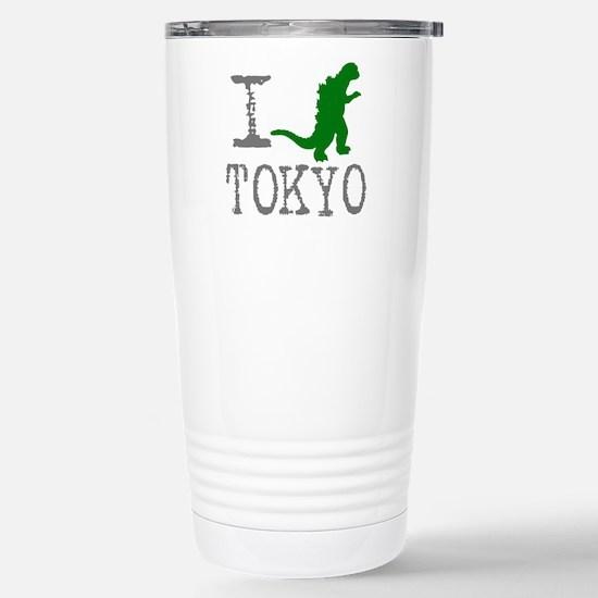 I Godzilla TOKYO (original) Stainless Steel Travel