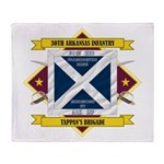 30th Arkansas Inf (Flag 5.1).png Throw Blanket