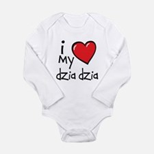 I Love My Dzia Dzia Long Sleeve Baby Bodysuit