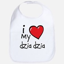 I Love My Dzia Dzia Bib