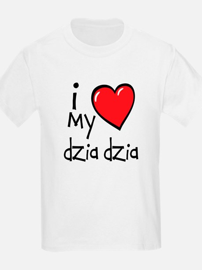 I Love My Dzia Dzia Kids T-Shirt