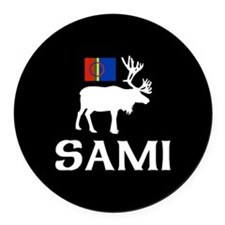 Sami, the People of Eight Seasons Round Car Magnet
