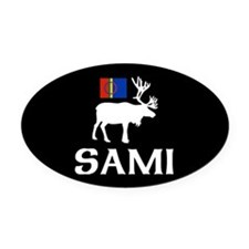 Sami, the People of Eight Seasons Oval Car Magnet