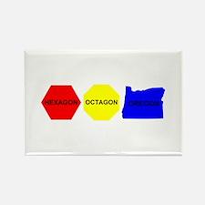 Hexagon, Octagon, Oregon Rectangle Magnet