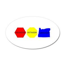 Hexagon, Octagon, Oregon 22x14 Oval Wall Peel