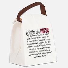 Definition of a nurse Canvas Lunch Bag