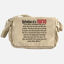 Definition of a nurse Messenger Bag