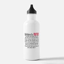 Definition of a nurse Sports Water Bottle