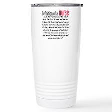 Definition of a nurse Travel Mug