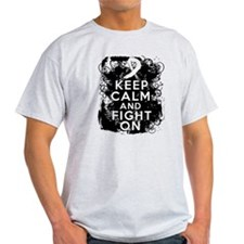 Retinoblatoma Keep Calm and Fight On T-Shirt