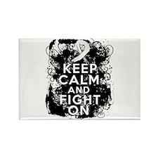 Retinoblatoma Keep Calm and Fight On Rectangle Mag
