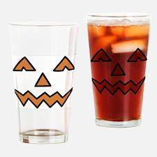 Pumpkin Face Drinking Glass