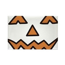 Pumpkin Face Rectangle Magnet