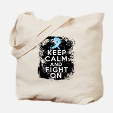 Prostate Cancer Keep Calm and Fight On Tote Bag
