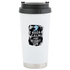 Prostate Cancer Keep Calm and Fight On Travel Mug