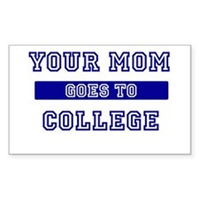 Mom Goes to College Rectangle Stickers