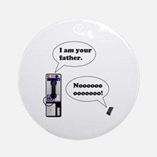 Vader Phone Ornament (Round)