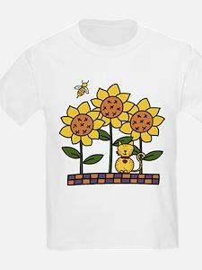 Cat In Sunflowers T-Shirt