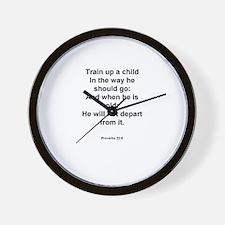 Proverbs 22:6 Wall Clock