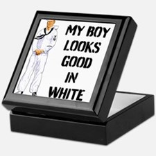 MY BOY LOOKS GOOD IN WHITE Keepsake Box