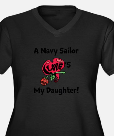A navy Sailor Loves my Daughter Women's Plus Size
