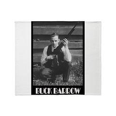 Buck Barrow Throw Blanket