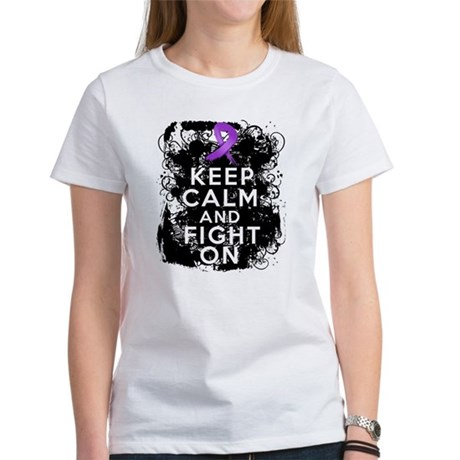 Pancreatic Cancer Keep Calm and Fight On Women's T