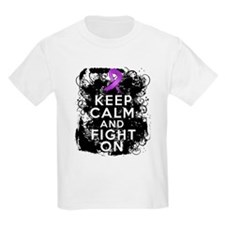 Pancreatic Cancer Keep Calm and Fight On T-Shirt
