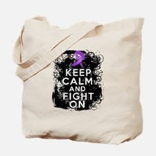 Pancreatic Cancer Keep Calm and Fight On Tote Bag