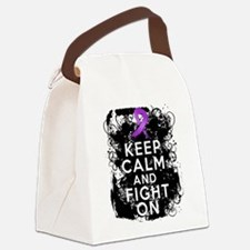 Pancreatic Cancer Keep Calm and Fight On Canvas Lu