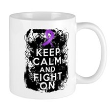 Pancreatic Cancer Keep Calm and Fight On Mug