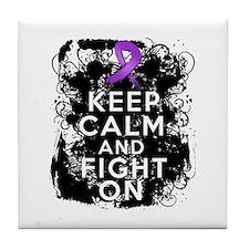 Pancreatic Cancer Keep Calm and Fight On Tile Coas